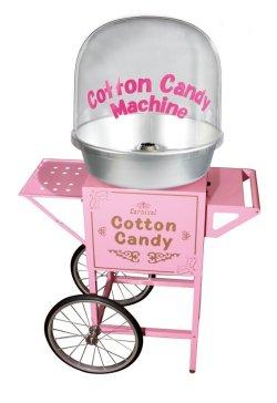 画像1: 新型 綿菓子機・バブルカバータイプ・カート付
